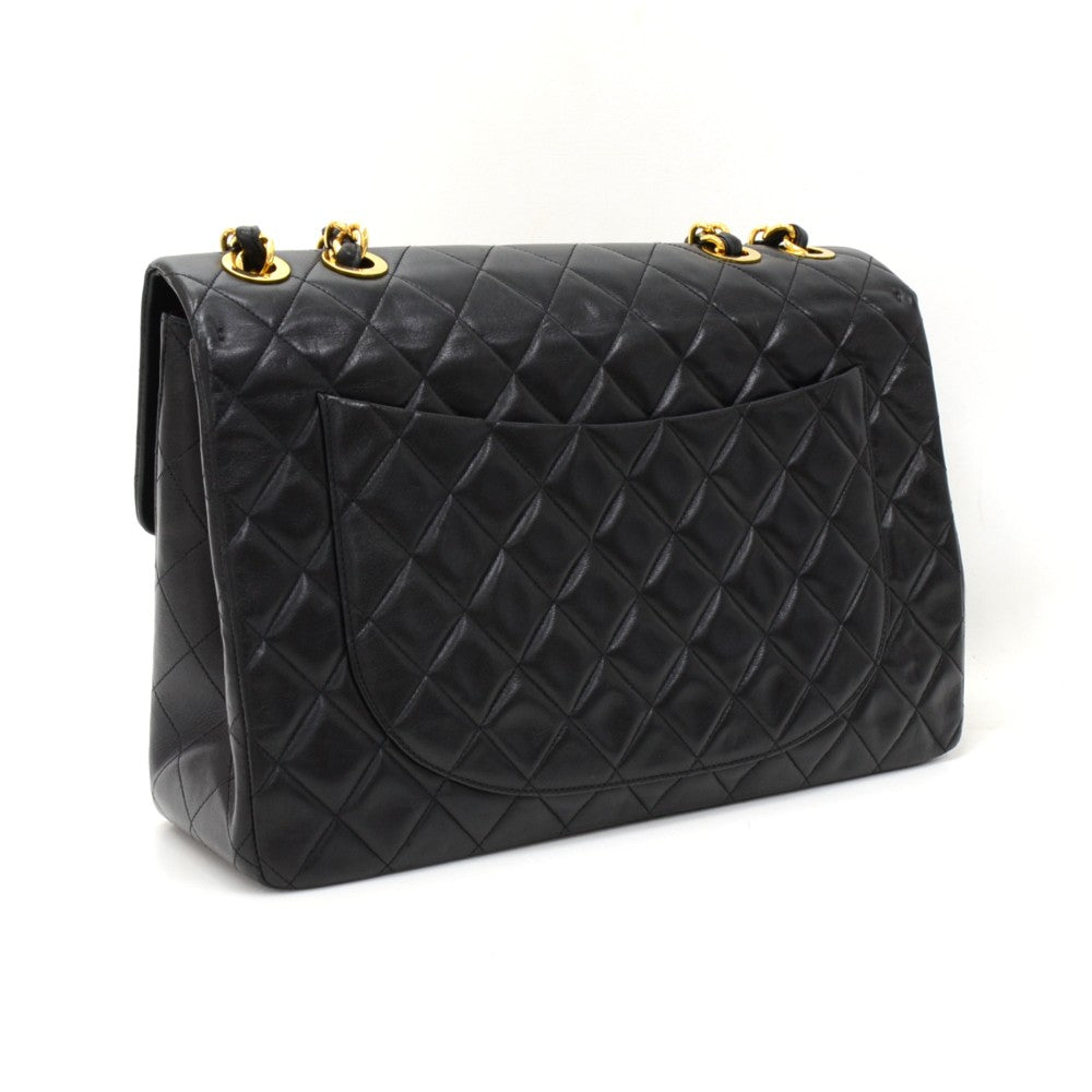 Maxi Quilted Lambskin Leather Shoulder Bag