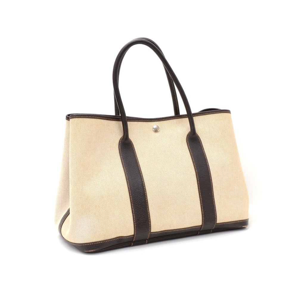 Garden Party PM Leather and Canvas Handbag