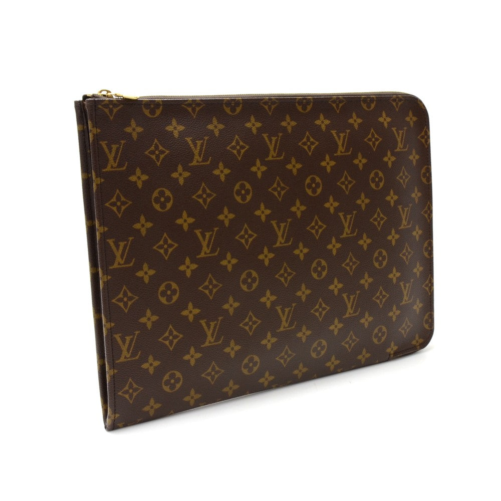 Poche Documents Portfolio Monogram Canvas Clutch Bag