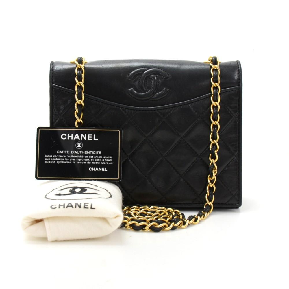 Mini Quilted Lambskin Leather Shoulder Bag