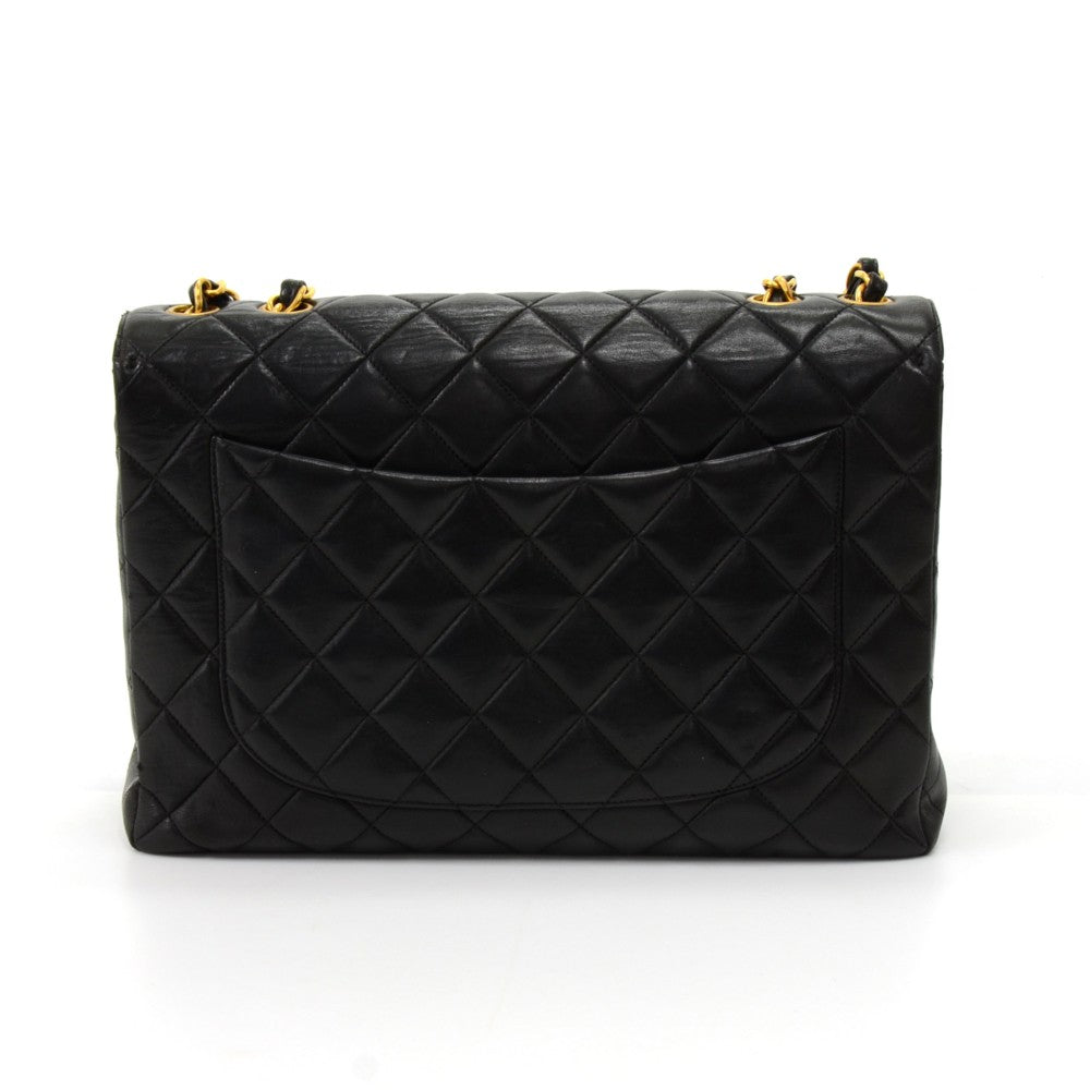 "12"" Classic Flap Quilted Lambskin Leather Shoulder Bag"