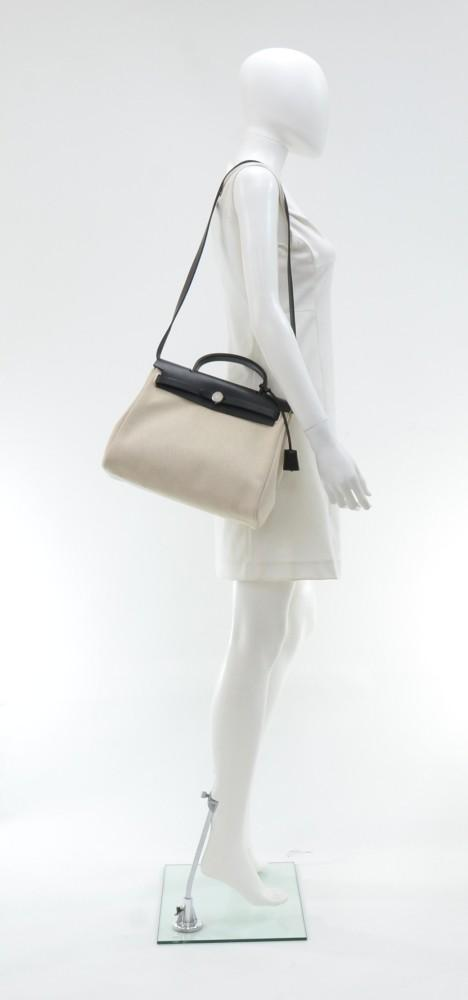 Herbag PM 2-in-1 Canvas and Calf Leather Bags