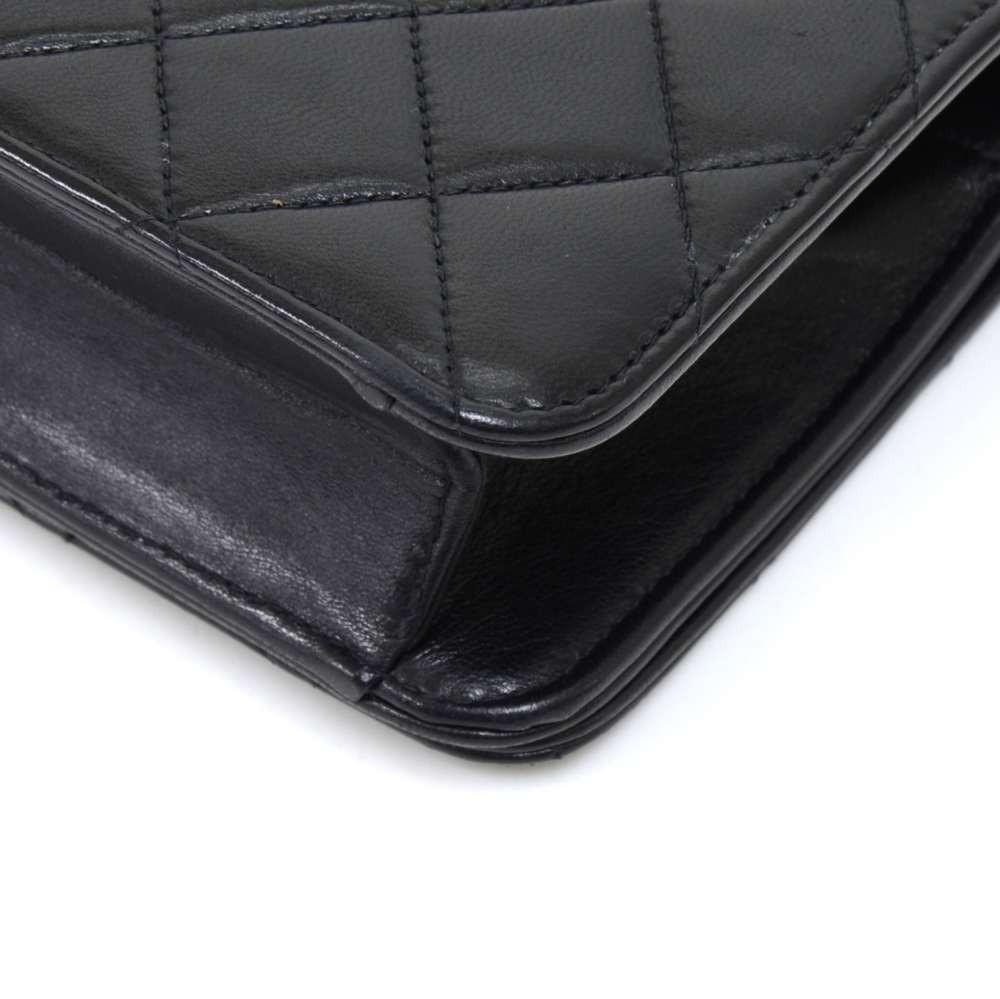 Mini Single Flap Quilted Lambskin Leather Shoulder Bag