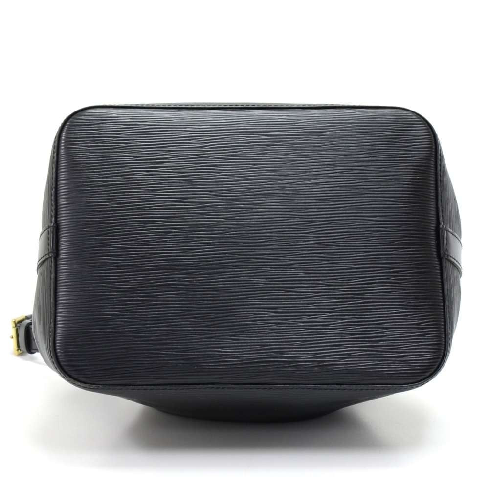Petit Noe Black Epi Leather Bag