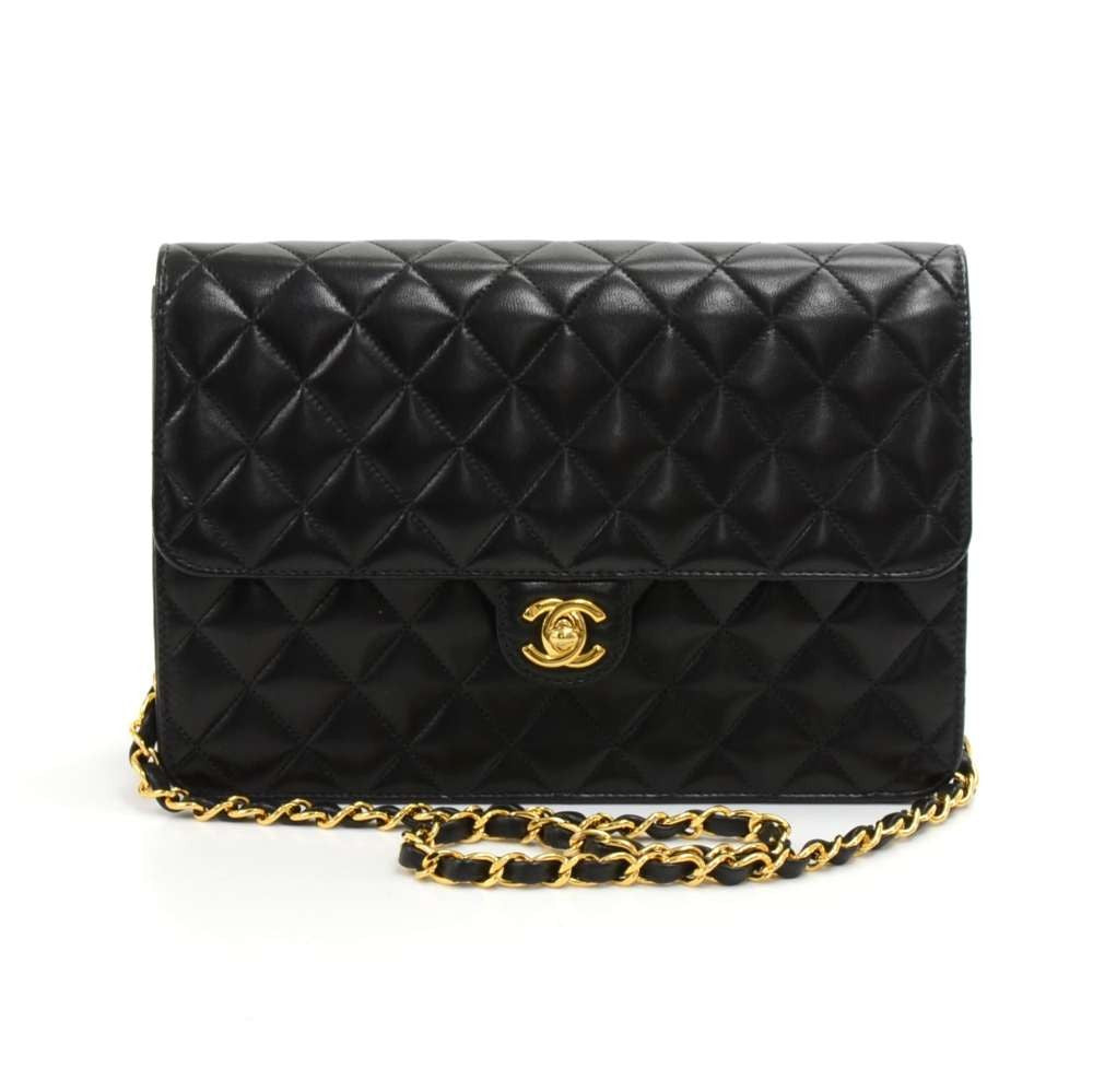 c7604fd7eebf09 Classic Quilted Lambskin Leather Half Flap Shoulder Bag. Next. Chanel