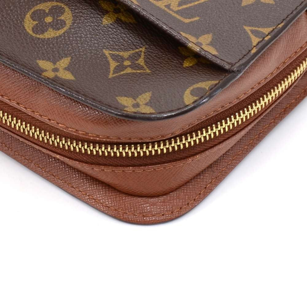 Orsay Monogram Canvas Clutch Bag