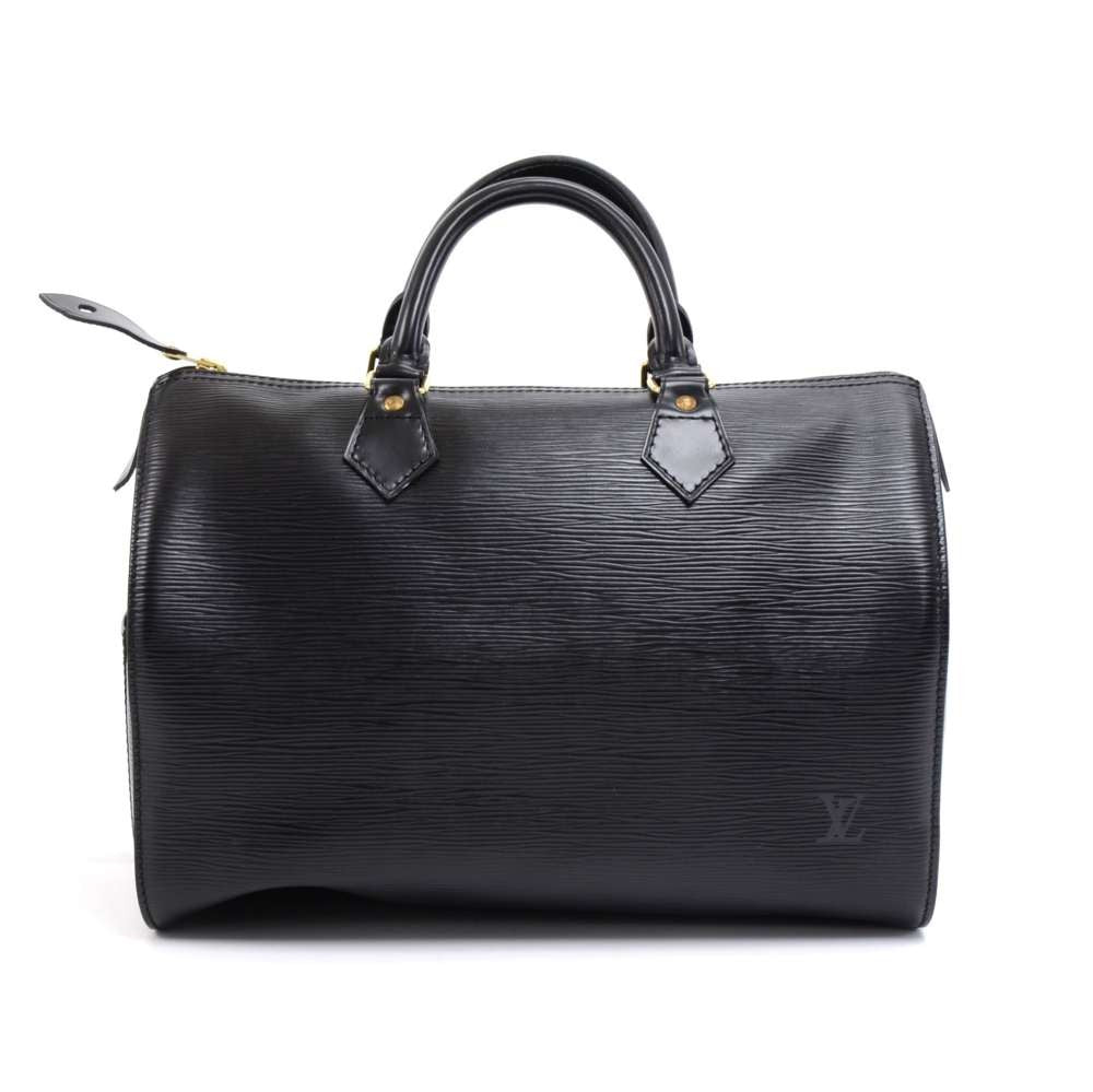 Speedy 30 Black Epi Leather City Handbag