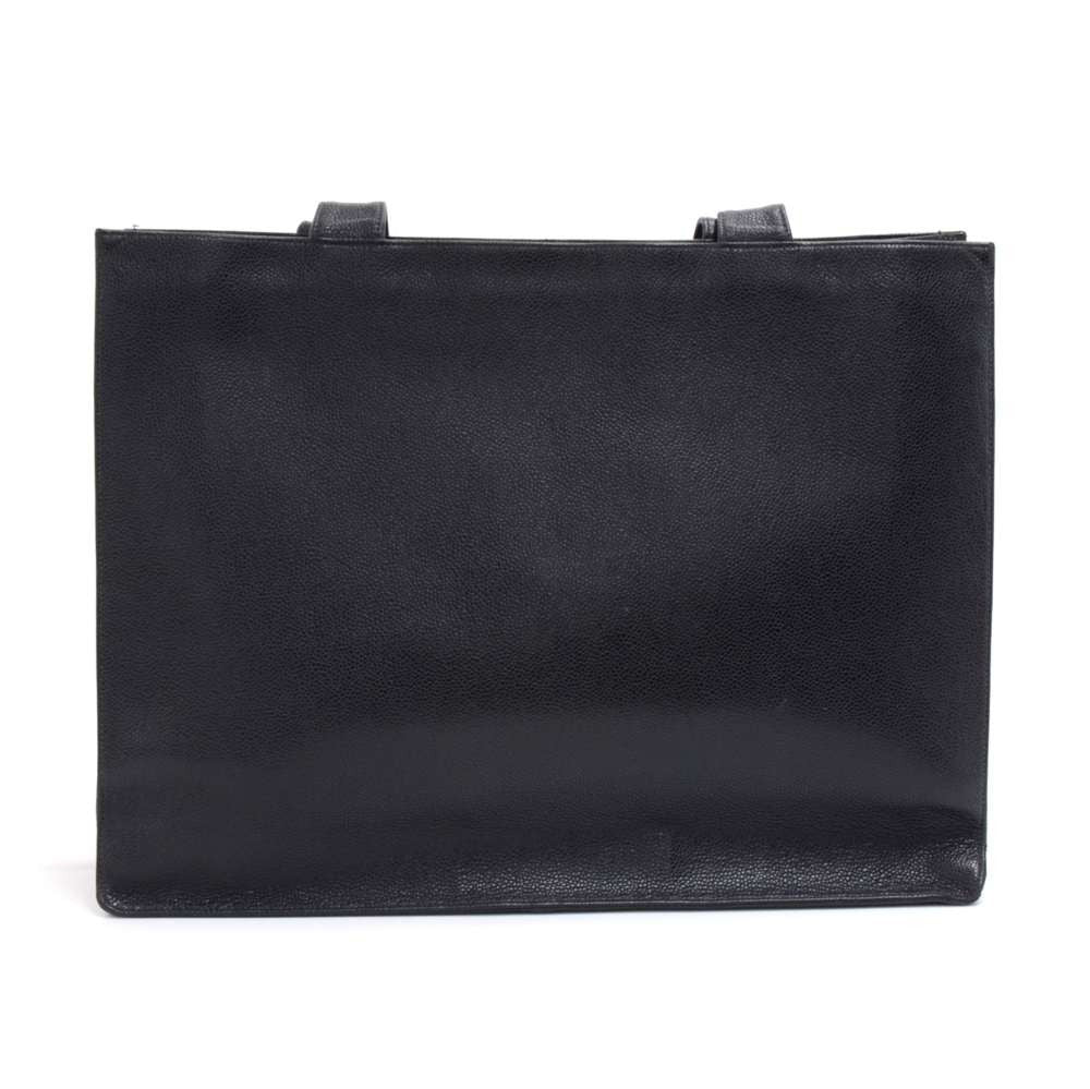 Jumbo Smooth Caviar Leather Tote Bag