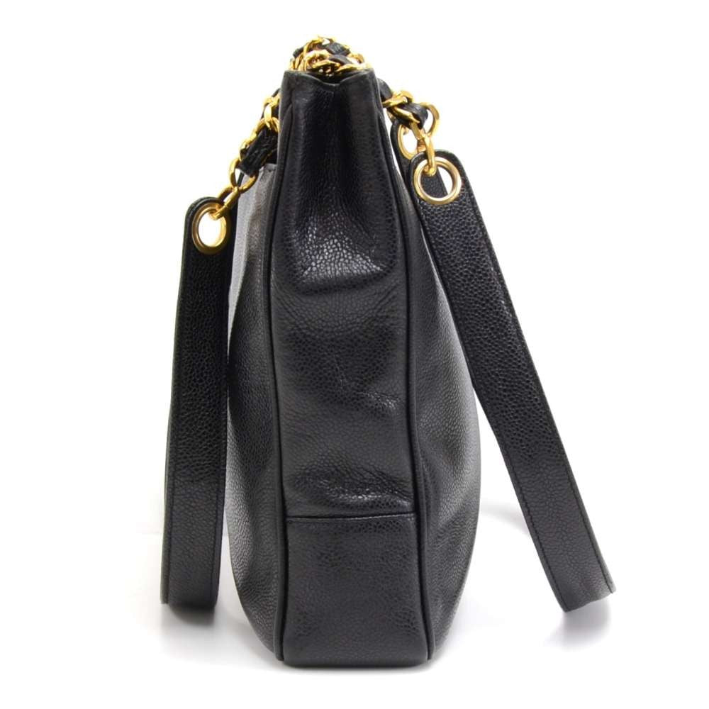 Caviar Leather CC Monogram Tote Bag