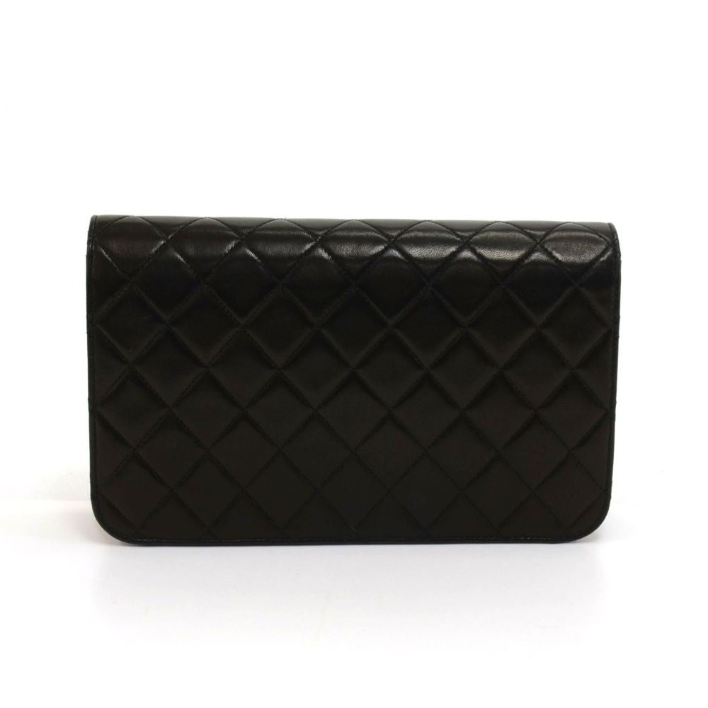 "9"" Classic Flap Quilted Lambskin Leather Shoulder Bag"