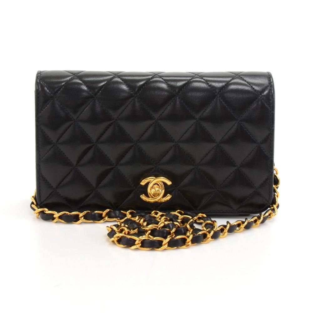 Mini Quilted Lambskin Leather Single Flap Shoulder Bag