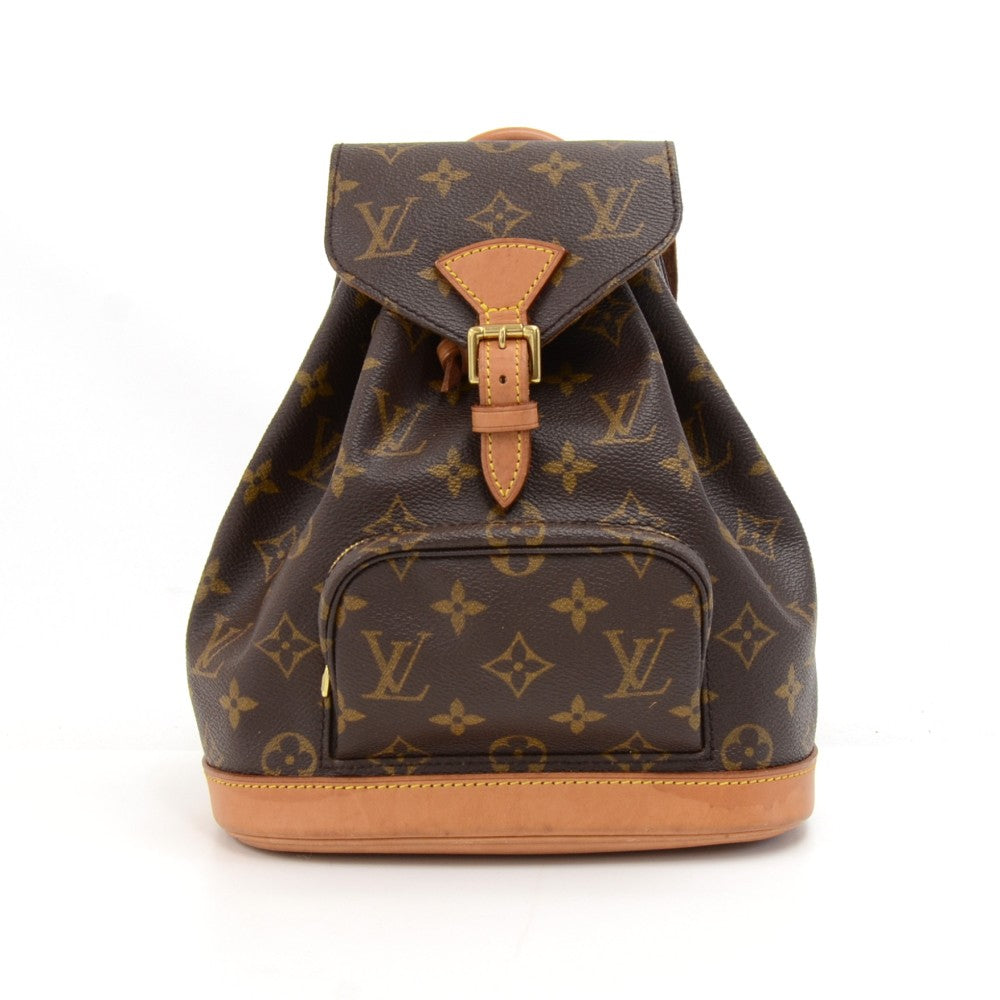 Mini Montsouris Monogram Canvas Backpack Bag