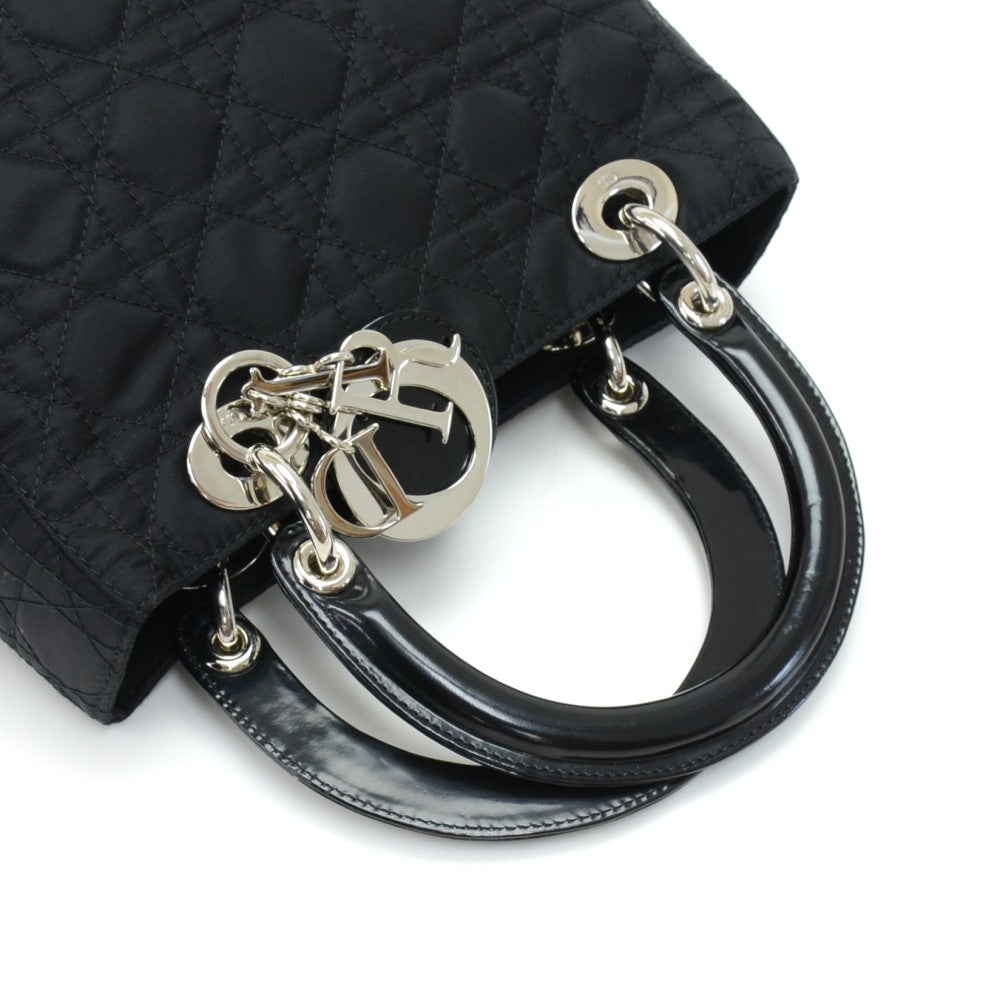 Lady Dior Medium Cannage Nylon Bag