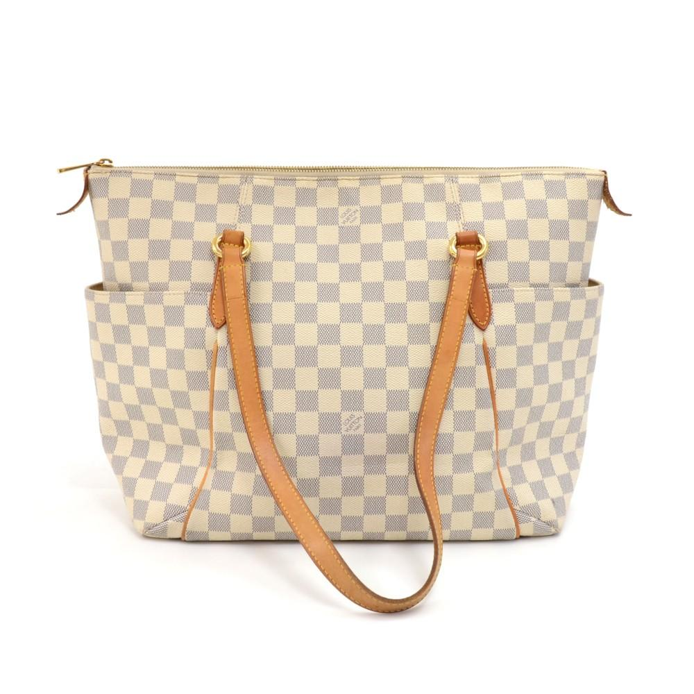 Totally PM Damier Azur Canvas Shoulder Bag