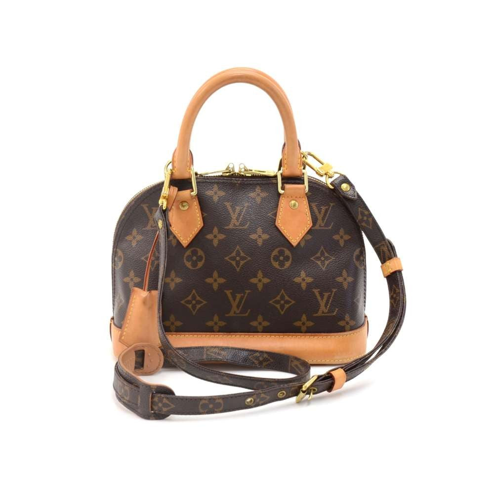 49b54d793f0 Alma BB Monogram Canvas Shoulder Bag