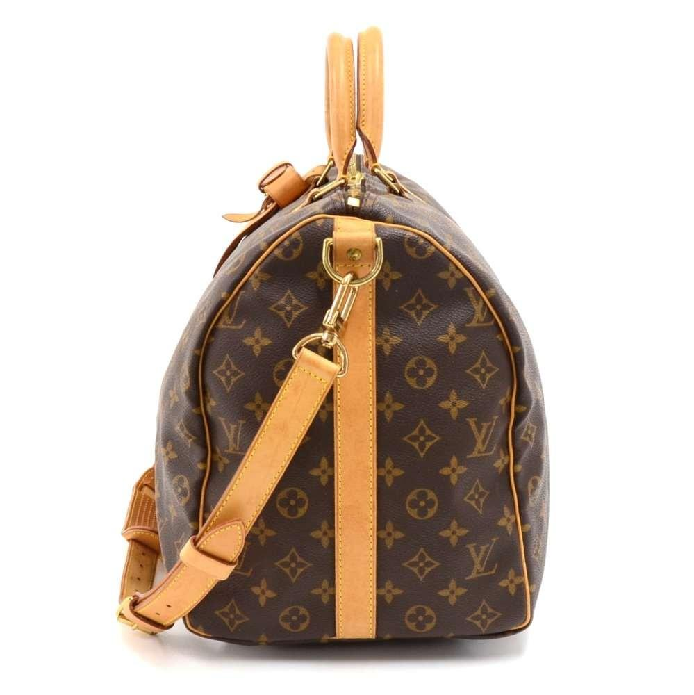 Keepall 50 Bandouliere Monogram Canvas Travel Bag with Strap
