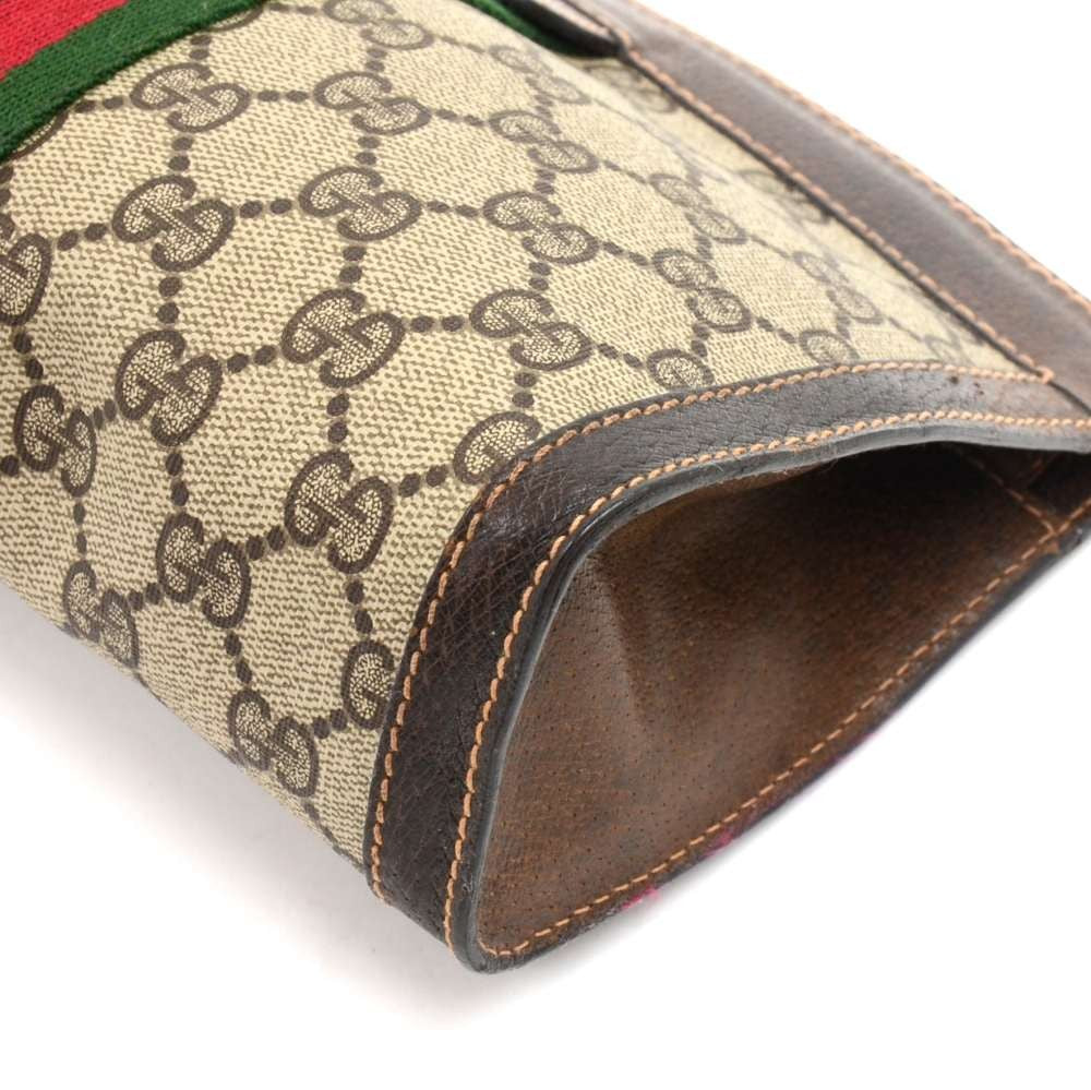GG Supreme Monogram Canvas Clutch Bag