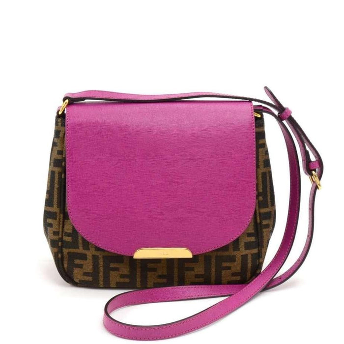 Monogram Canvas and Fuschia Leather Crossbody Bag