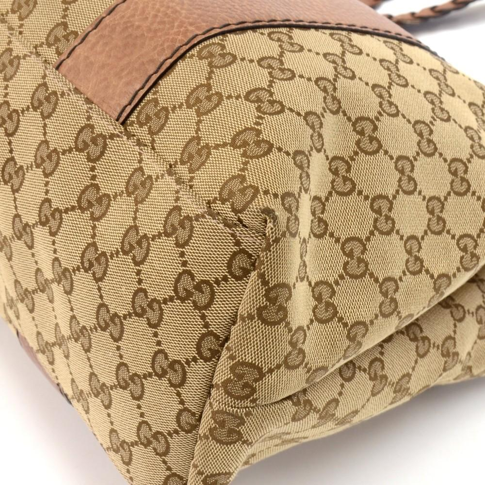 Monogram Canvas Braided Handles Medium Tote Bag