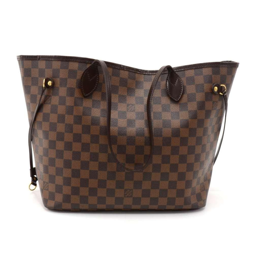 Neverfull MM Damier Ebène Canvas Tote Bag