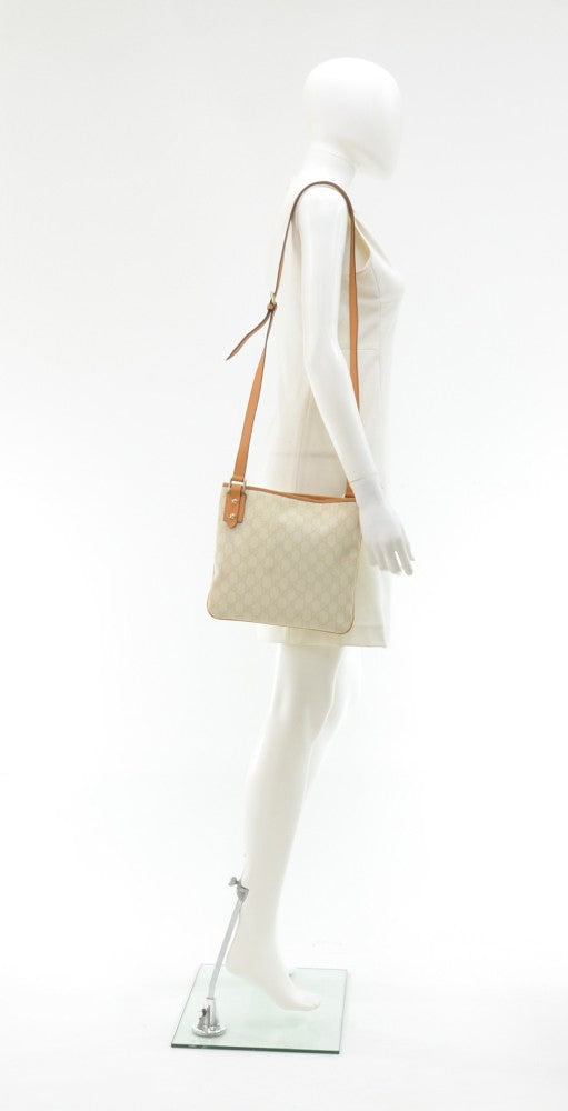 GG Plus Coated Canvas Crossbody Bag