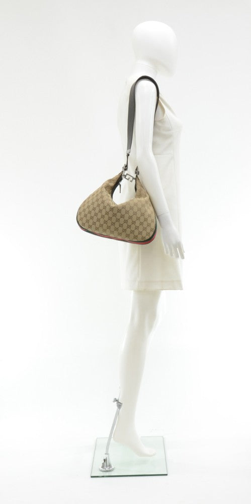 Monogram Canvas Convertible Hobo Bag