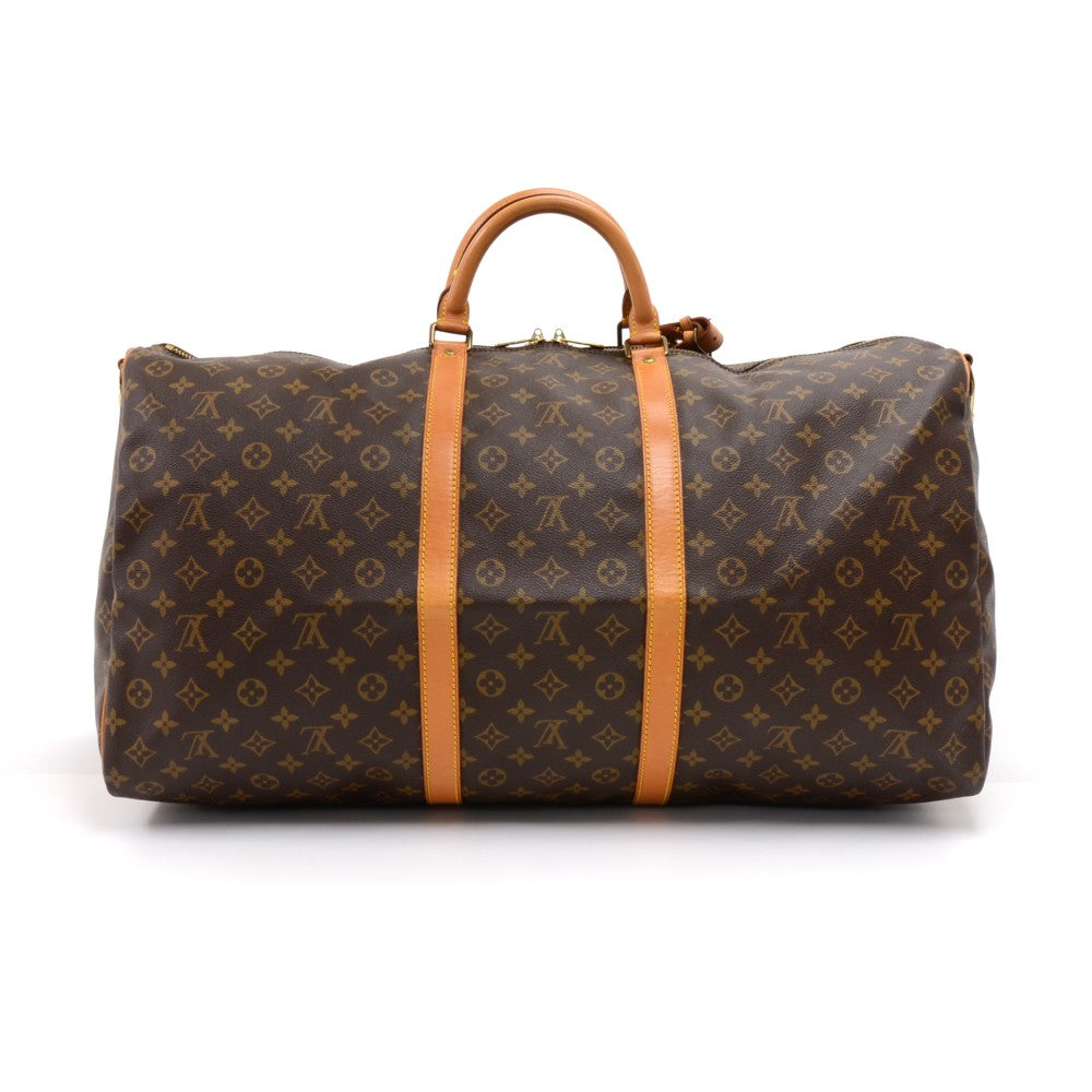 Keepall 60 Bandouliere Monogram Canvas Travel Bag with Strap