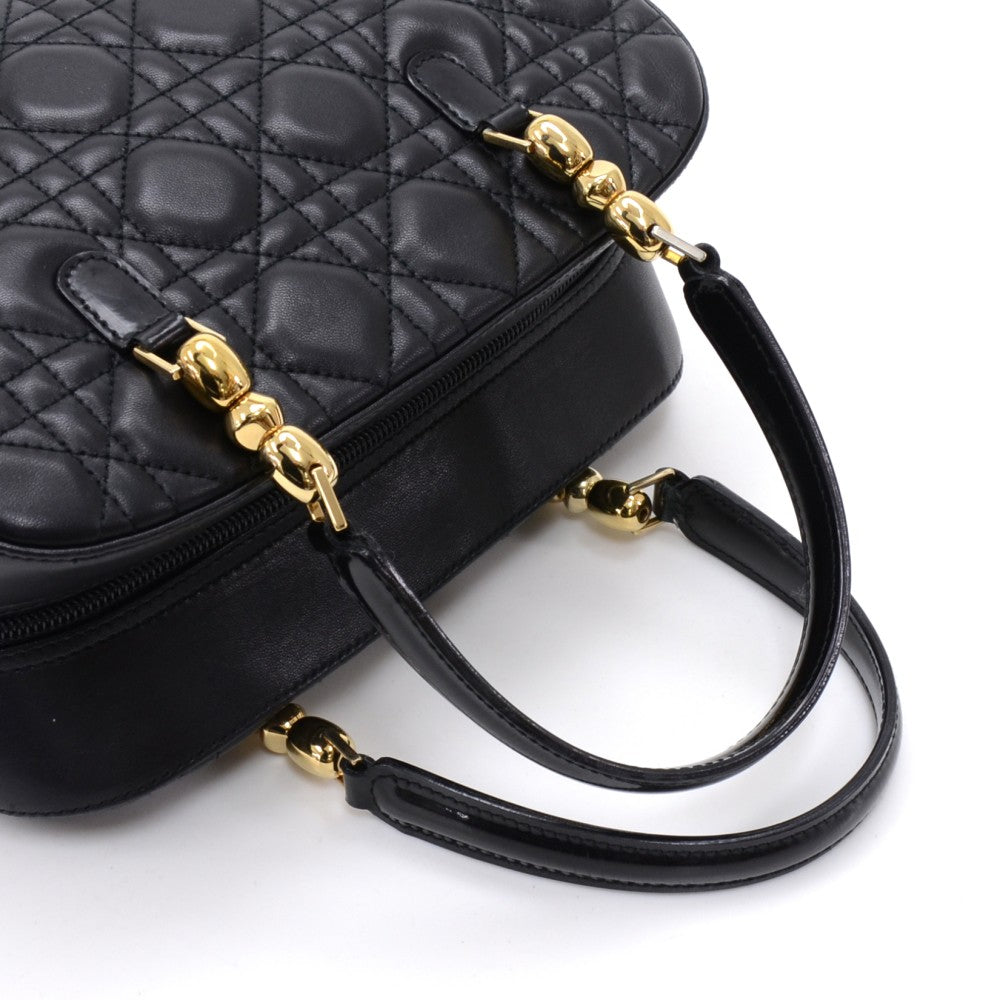 Cannage Quilted Lambskin Leather Handbag