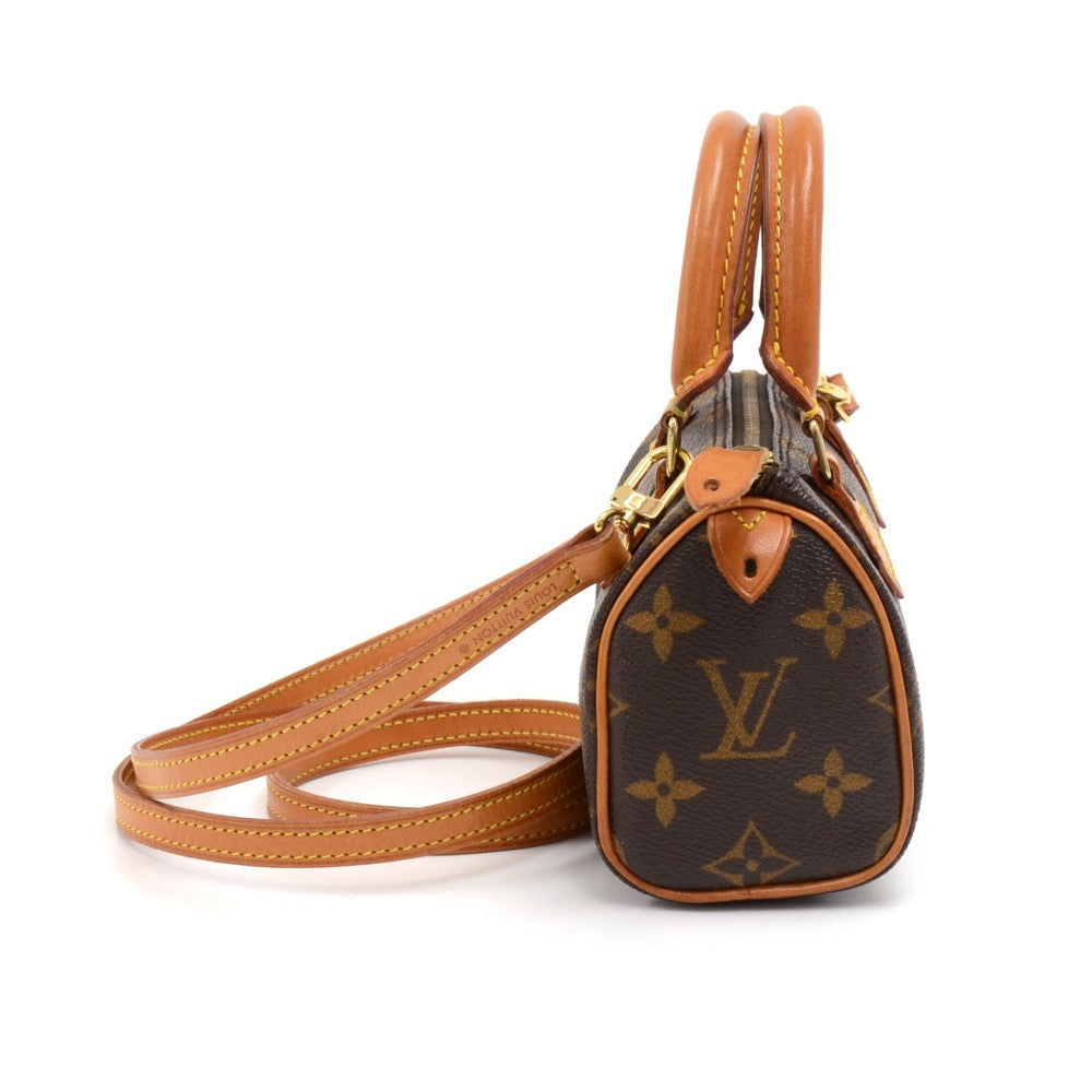 Speedy Sac HL Monogram Canvas Mini Handbag with Strap
