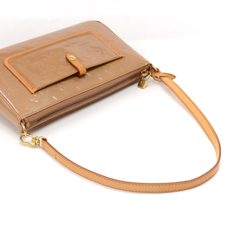 Mallory Square Vernis Leather Shoulder Bag
