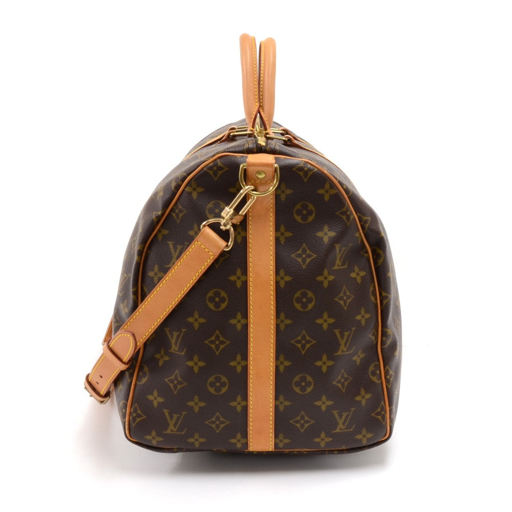 Keepall 55 Bandouliere Monogram Canvas Travel Bag with Strap