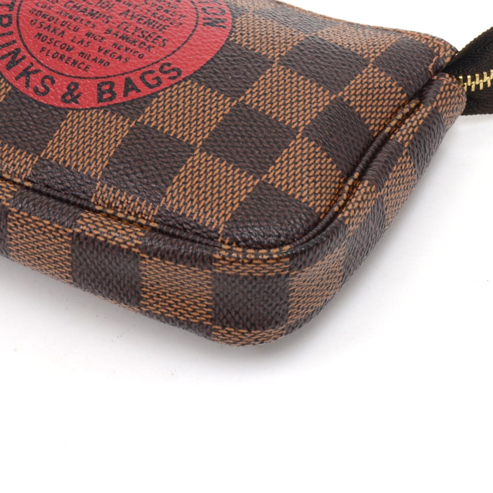 Pochette Accessoires Trunks & Bags Damier Canvas Mini Bag