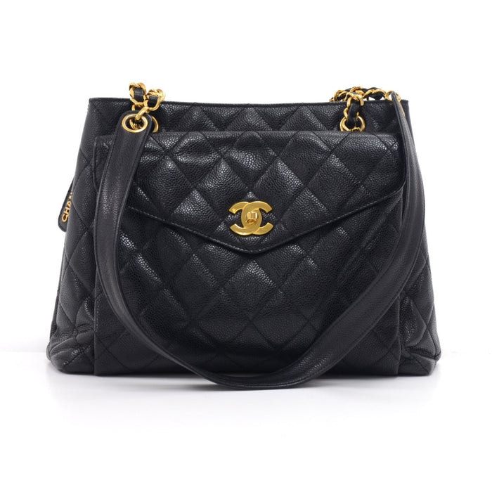ec57f92c1546 Caviar Leather Front Envelope Pocket Shoulder Bag · Chanel
