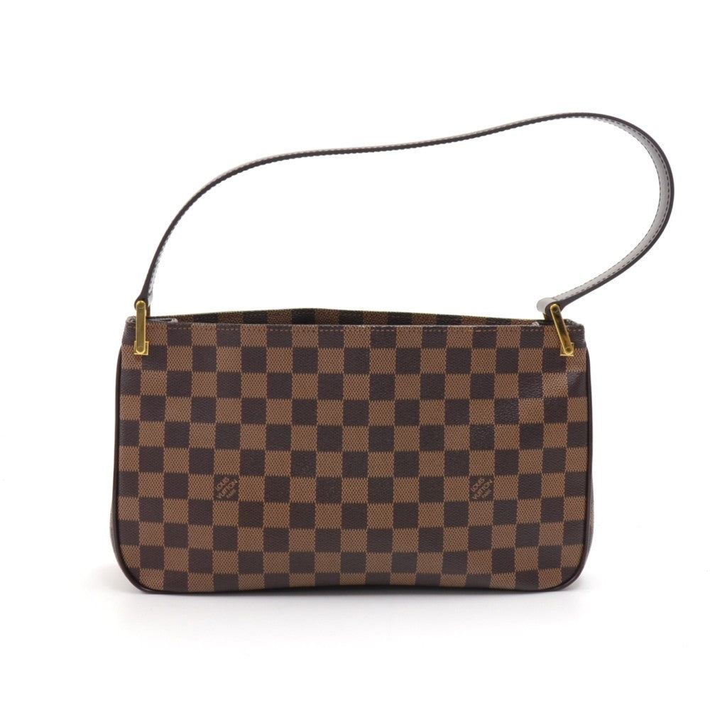 Aubagne Damier Ebene Canvas Shoulder Bag