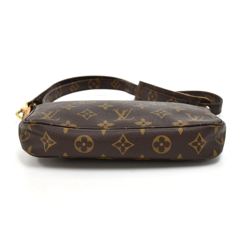 Pochette Accessoires Monogram Canvas Bag with Canvas Strap