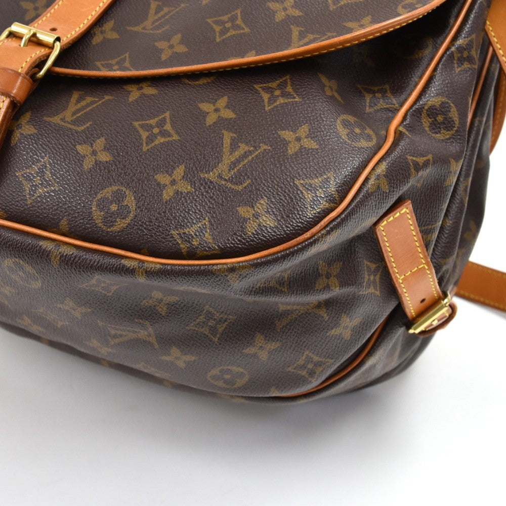 Saumur 35 Monogram Canvas Messenger Bag