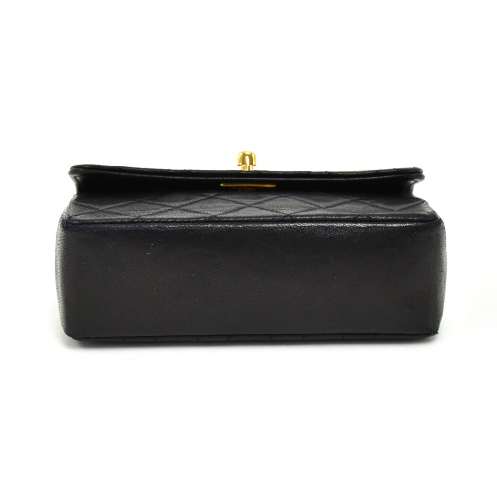 Lambskin Leather Micro Mini Flap Bag