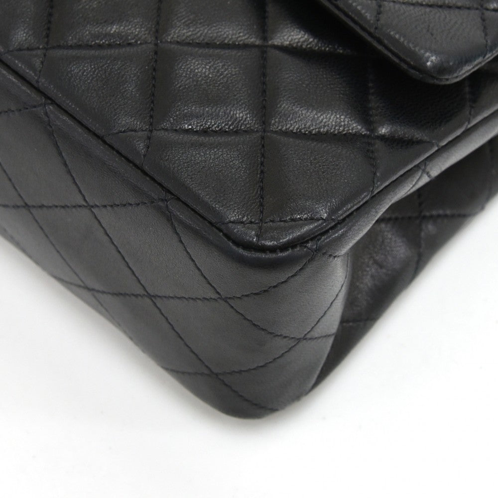 Double Flap Quilted Lambskin Leather Shoulder Bag