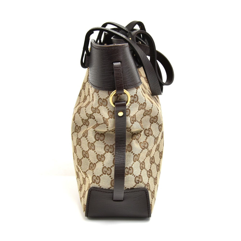 Monogram Canvas Ornamental Buckle Tote Bag