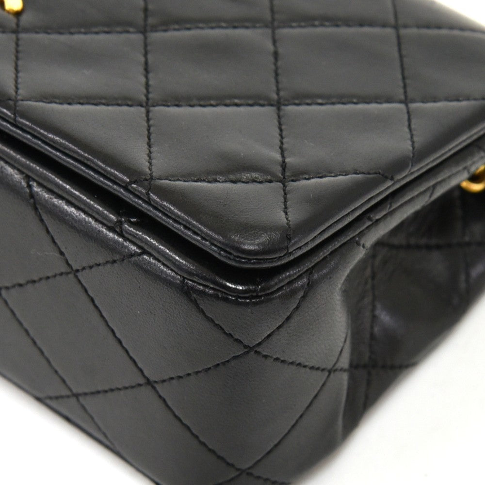 Quilted Leather Mini Single Flap Bag
