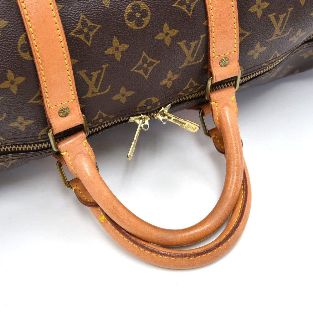 Keepall 50 Bandouliere Monogram Canvas Duffel Bag