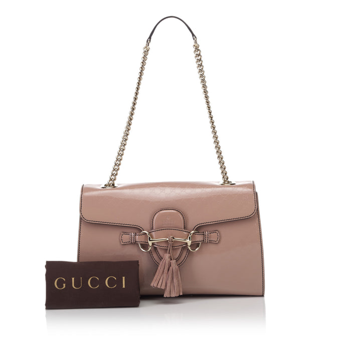 Emily Guccissima Patent Leather Bag