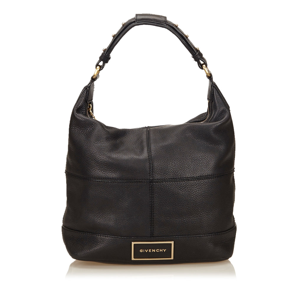 Grained Calfskin Leather Hobo