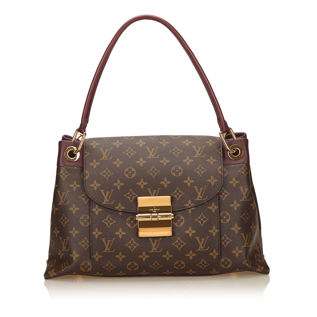 Olympe Bordeaux Monogram Canvas Shoulder Bag