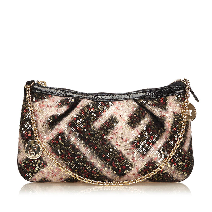 Sequined Brushed Cotton Evening Bag