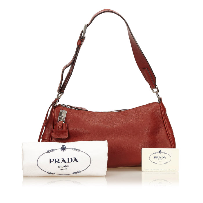 Vitello Daino Box Leather Shoulder Bag
