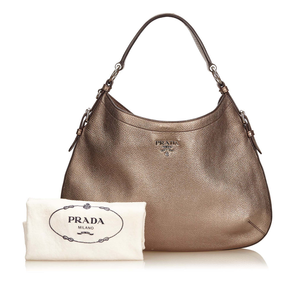 9114dd157845e1 Prada Vitello Daino Leather Hobo Bag – Poshbag Boutique