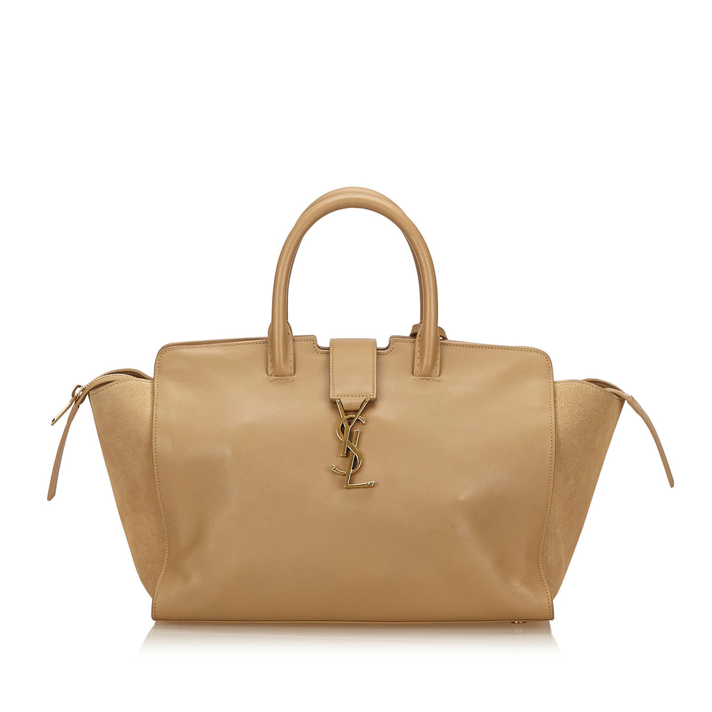 Downtown Cabas Leather and Suede Handbag