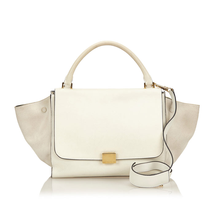 Trapeze Calf Leather and Suede Bag