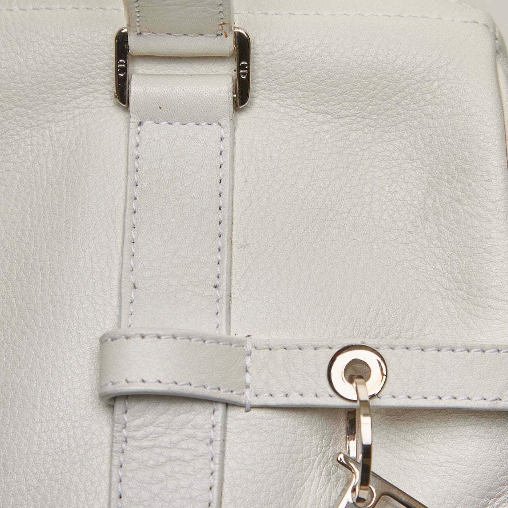Logo Charms Calf Leather Boston Bag